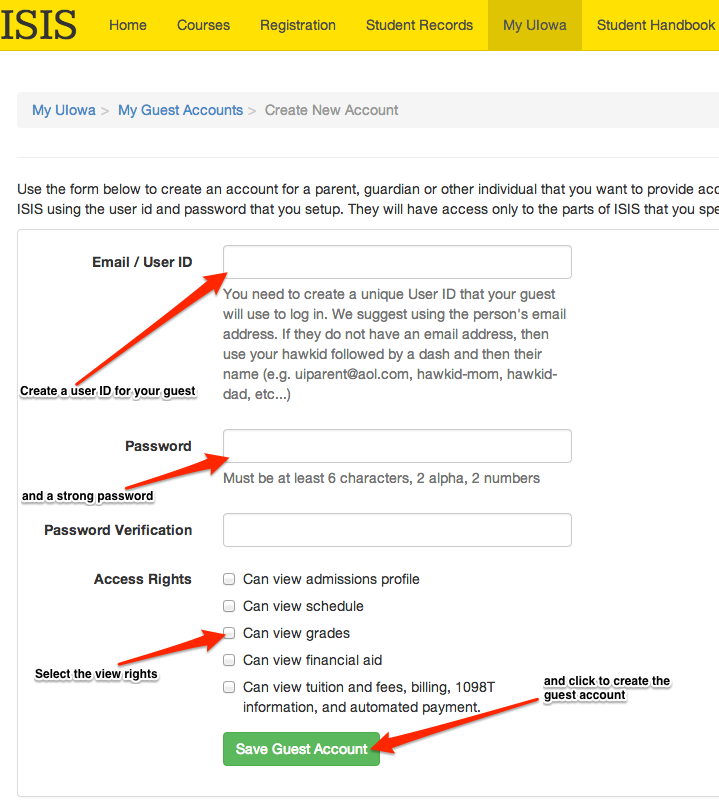 How to create guest account